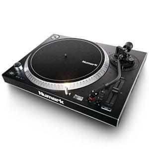 Numark – NTX1000 – Platine Vinyle DJ Professionnelle à Entrainement Direct High Torque, Bras en S et Ajustable – Noir