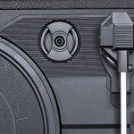Platines | Tourne Disque Vintage | Platine Vinyle Bluetooth | Lecteur Vinyle | Convertisseur vinyl | Entraînement par Courroie | Haut-Parleurs Intégrés | Convertisseur USB pour MP3 | 3 Vitesses Avec Enceinte Interne Pour Ecouter Vieux Vinyles Nostalgies, Noir