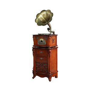 GOM Platine Vinyle, Vintage Phonographe Conversion avec Trois Vitesses 33/45/78 Tours Soutien Lecture Bluetooth Lecture de CD Sorties SUB GOM-008 (Couleur : Brown, Taille : Floorstanding)