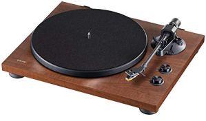 Teac TN-280BT(WA) Platine vinyle Hifi avec émetteur Bluetooth pour haut-parleurs et écouteurs, (Plateau aluminium, entraînement par courroie, préampli phono MM), noyer
