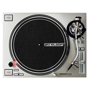Tourne-disque Reloop RP-7000,pour DJ, avec couple élevé, entraînement direct par Quartz, réglable en hauteur MK2 Bras en S Argenté Argenté métallisé