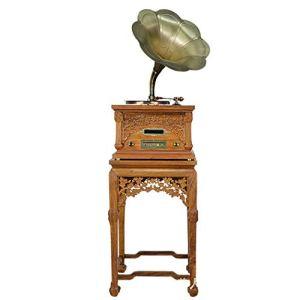 RAPLANC Tourne-Disque Vinyle Bluetooth Home Retro, phonographe d'époque avec DVD, VCD, Radio FM, Joue Tous Vos disques Vinyle et Albums favoris,Jaune