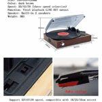 Démodés Modern Classic Analog phonographe Accueil Disque Vinyle Electro-mécanique phonographes (Color : Dark brown)