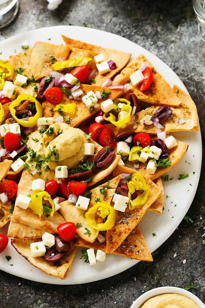 Mediterranean Nachos - Mediterranean diet recipes