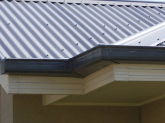 Lysaght Quad gutter slotted rainwater RGW Custom Orb cladding roofing Colorbond
