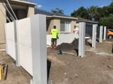 Modular Fence during installation