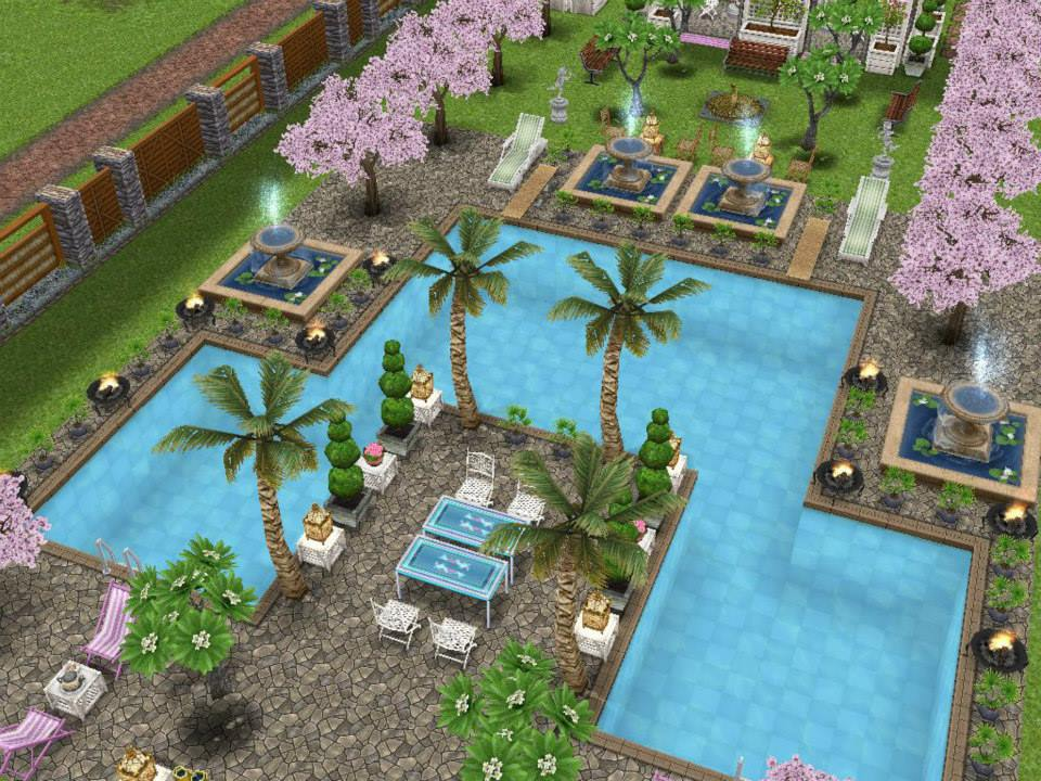 The freeplay design a dream backyard contest voting for Pool design sims 4