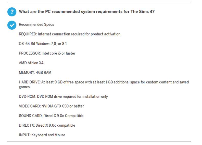 Rec system req