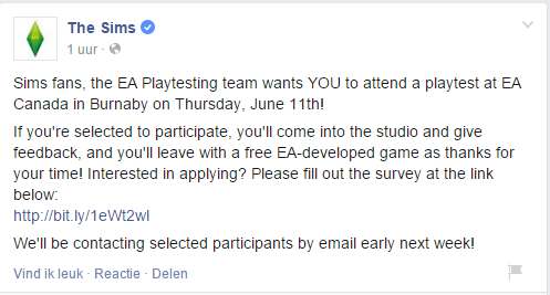 2015-06-07 19_02_31-The Sims - Sims fans, the EA Playtesting team wants YOU to attend...