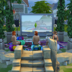 The Sims 4 Movies Hangout Stuff Pack