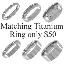 Matching Titanium Ring for $50