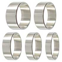 Men's Platinum Rings - Flat