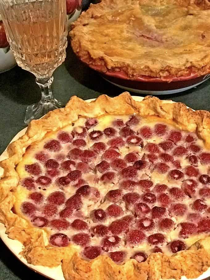 Raspberry Custard Pie