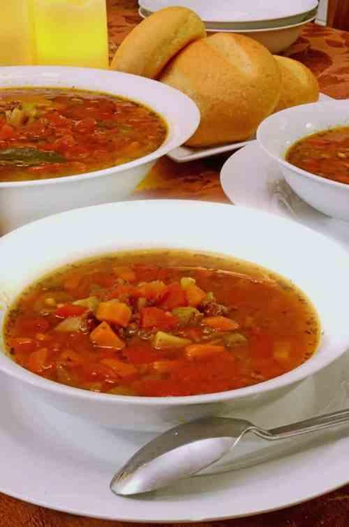 Slow Cooker Italian Hamburger Soup Recipe