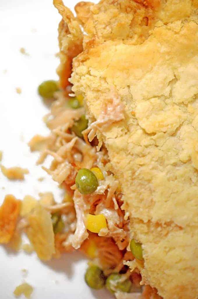 Homemade turkey pot pie on Platter Talk food blog.