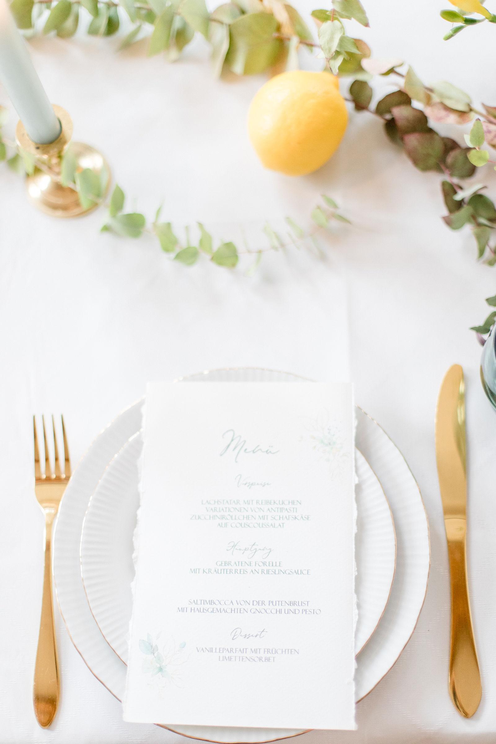 Tischdeko Grün Gelb Hochzeit