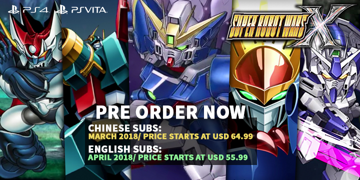 play-asia.com, Super Robot Wars X, Super Robot Wars X ps4, Super Robot Wars X PS VITA, Super Robot Wars X ASIA, Super Robot Wars X JAPAN, Dungeons 3Super Robot Wars X release date, Super Robot Wars X price, Super Robot Wars X gameplay, Super Robot Wars X features