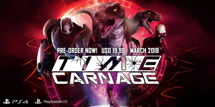 play-asia.com, Time Carnage, Time Carnage PlayStation 4, Time Carnage PlayStation VR, Time Carnage Europe, Time Carnage release date, Time Carnage price, Time Carnage gameplay, Time Carnage features