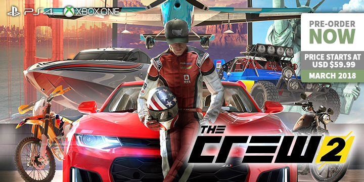 updated the crew is back the crew 2 on ps4 xone play video game news. Black Bedroom Furniture Sets. Home Design Ideas