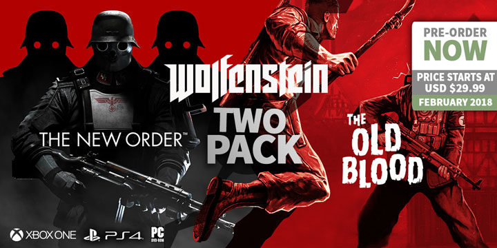 play-asia.com, Wolfenstein: The Two Pack, Wolfenstein: The Two Pack PlayStation 4, Wolfenstein: The Two Pack Xbox One, Wolfenstein: The Two Pack PC, Wolfenstein: The Two Pack Europe, Wolfenstein: The Two Pack release date, Wolfenstein: The Two Pack price, Wolfenstein: The Two Pack gameplay, Wolfenstein: The Two Pack features