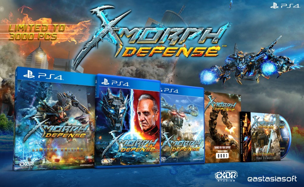X-MORPH DEFENSE Limited to 3000 physical copies on PS4!