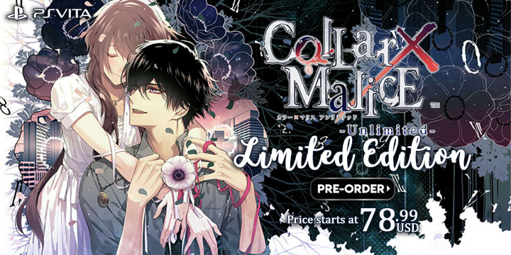 Collar x Malice Unlimited, PS Vita, Japan, gameplay, features, release date, price, trailer, screenshots, Idea Factory