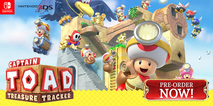 Captain Toad: Treasure Tracker, Nintendo, Nintendo e-shop, US, Europe, Australia, Japan, gameplay, features, release date, trailer, screenshots, Susume! Kinopio Taichou