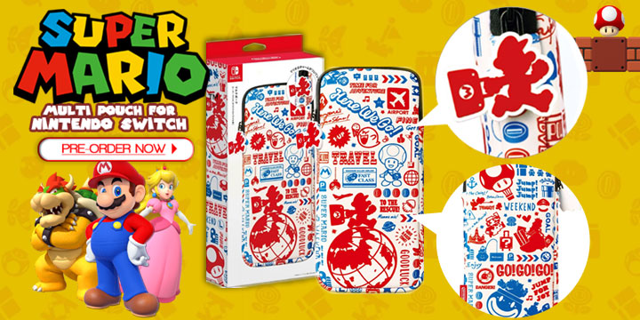 Your Super Mario Multi-Pouch and All-in Box are Here at Play
