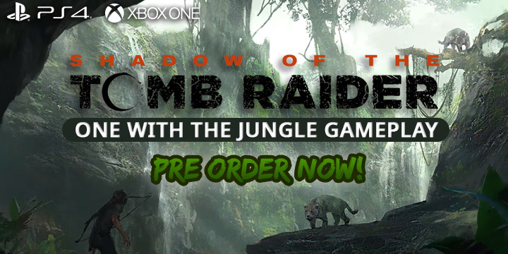 See How Lara Croft Becomes One With The Jungle Shadow Of The