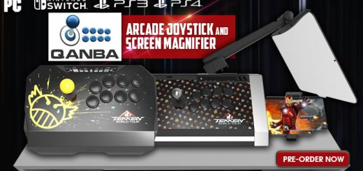 Bandai Namco, Europe, features, North America, PC, PlayStation 3, PlayStation 4, price, Qanba Screen Magnifier for Nintendo Switch, Qanba Tekken World Tour arcade sticks, Qanba's Tekken World Tour Edition Arcade-Style Joysticks, release date, Tekken World Tour Drone Arcade Joystick, Tekken World Tour Edition Joysticks, Tekken World Tour Obsidian Arcade Joysticks, US