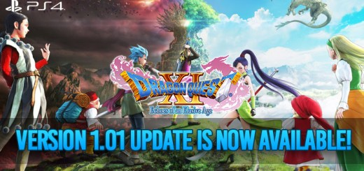 Dragon Quest XI, Dragon Quest XI: Echoes of an Elusive Age, PS4, PlayStation 4, US, Europe, Australia, update, version 1.01, Square Enix