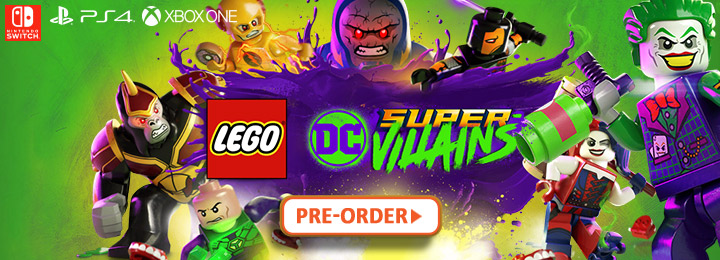 LEGO DC Super-Villains, PS4, XONE, Switch, US, Europe, Japan, gameplay, features, release date, price, trailer, screenshots, update, launch trailer