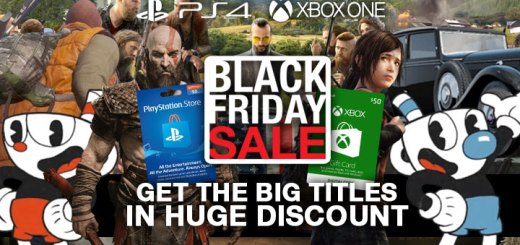 Black Friday, Black Friday Sale, PS4, XONE, PlayStation 4, Xbox One, PlayStation Network, Xbox Gift Cards, Cuphead, God of War, The Last of Us Remastered, Far Cry 5, State of Decay 2, Forza Horizon 4