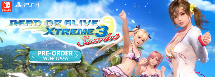 Dead or Alive Xtreme 3: Scarlet, Dead or Alive, release date, gameplay, features, price,Nintendo Switch, PS4, PlayStation 4, Koei Tecmo, official website, characters, first details, pre-order