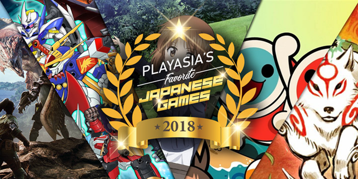 Best of 2018, Playasia's favorite Japanese Games of 2018, Games of 2018, Best Games of 2018, Playasia, games, ps4, PlayStation 4, Nintendo Switch, Switch, Xbox One, 3DS, Nintendo 3DS, Japanese Games