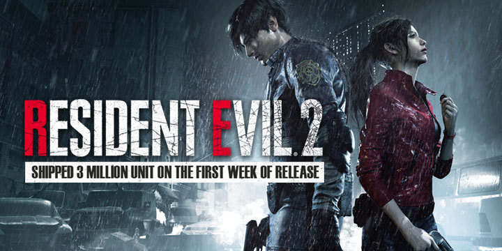 Resident Evil 2: Shipped 3 Million Unit on the First Week of Release