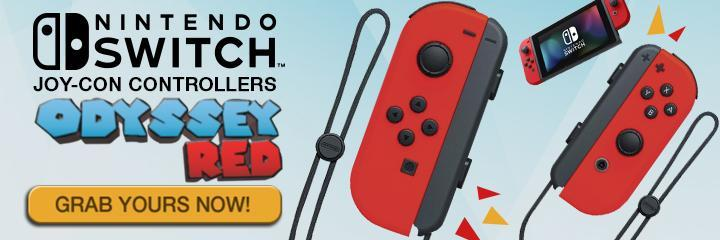 accessory, joy-con, joy-controllers, nintendo switch, switch, nintendo switch accessory, nintendo switch joy-con controllers red, nintendo switch odyssey red