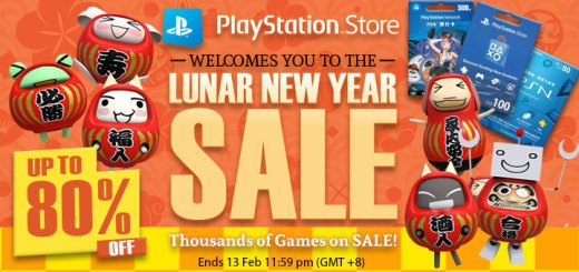 Lunar New Year Sale, PlayStation Store, PlayStation Asia, PSN Store, discount, sale, Chinese New Year Sale, PS4, games, PSN Cards