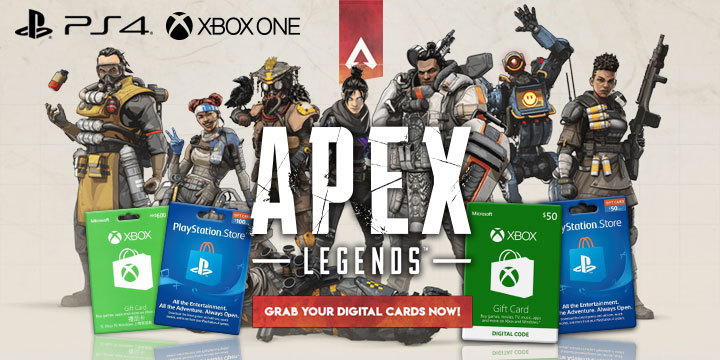 Apex Legends, PlayStation 4, Xbox One, release date, PSN Card, gameplay, features, trailer, digital, online, free-to-play, EA, Respawn Entertainment