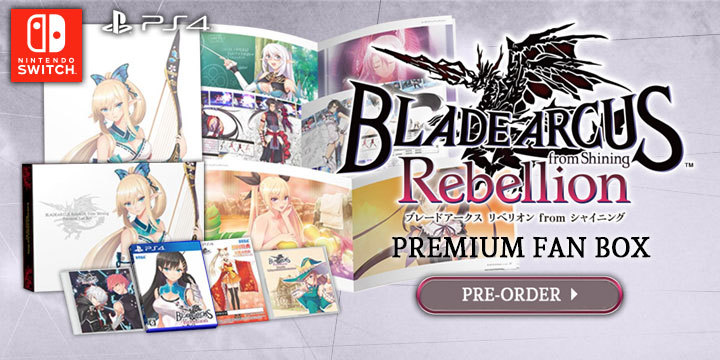 Blade Arcus Rebellion from Shining, Sega, PS$, Switch, PlayStation 4, Nintendo Switch, Japan, Asia
