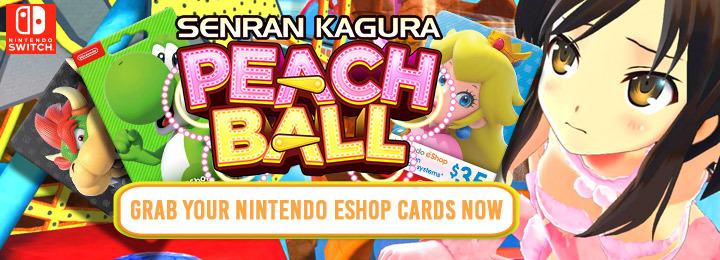 Senran Kagura: Peach Ball, West, release date, North America, Europe, Switch, Nintendo Switch, trailer
