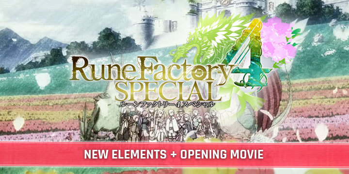 Rune Factory 4 Special, Switch, Nintendo Switch, features, price, release date, pre-order, Japan, Asia, regular edition, standard version, news, update, opening movie