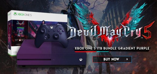 Xbox One, Xbox, Xbox One S, Microsoft, XONE, Devil May Cry, Devil May Cry 5, Xbox One S Devil May Cry 5 1TB Bundle Gradient Purple, Special Edition, Asia