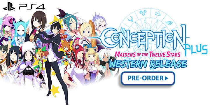 Conception Plus: Maidens of The Twelve Stars, Conception Plus, Conception Plus Ore no Kodomo wo Undekure, Western Release, localization, Spike Chunsoft, PS4, Europe, US, PlayStation 4, Pre-order