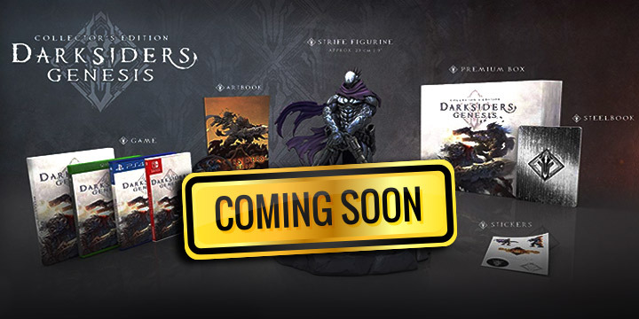 Darksiders, Darksiders: Genesis, PlayStation 4, Xbox One, Nintendo Switch, Windows PC, US, Europe, THQ Nordic, Pre-order, Collector's Edition, Nephilim Edition