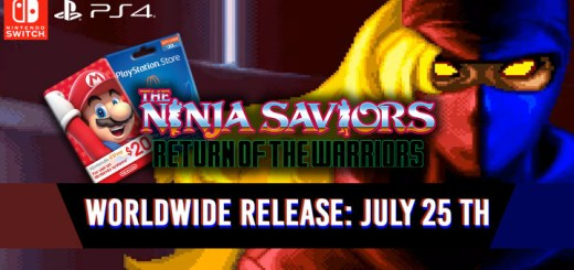 The Ninja Saviors, The Ninja Saviors: Return of the Warriors, The Ninja Saviors: Return of the Warriors (Multi-Language), Multi-language, English, Asia, Nintendo Switch, Switch, H2 Interactive, Pre-order, The Ninja Warriors: Again, The Ninja Warriors: Once Again, update, worldwide