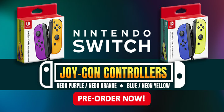 Nintendo Switch, Switch, Joy-Con, Controllers, Nintendo Switch Joy-Con Controllers, Joy-Cons, US, Pre-order, Accessories