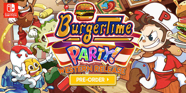 Burger Time Party!, BurgerTime Party!, Xseed Games, Nintendo Switch, Switch, Pre-order