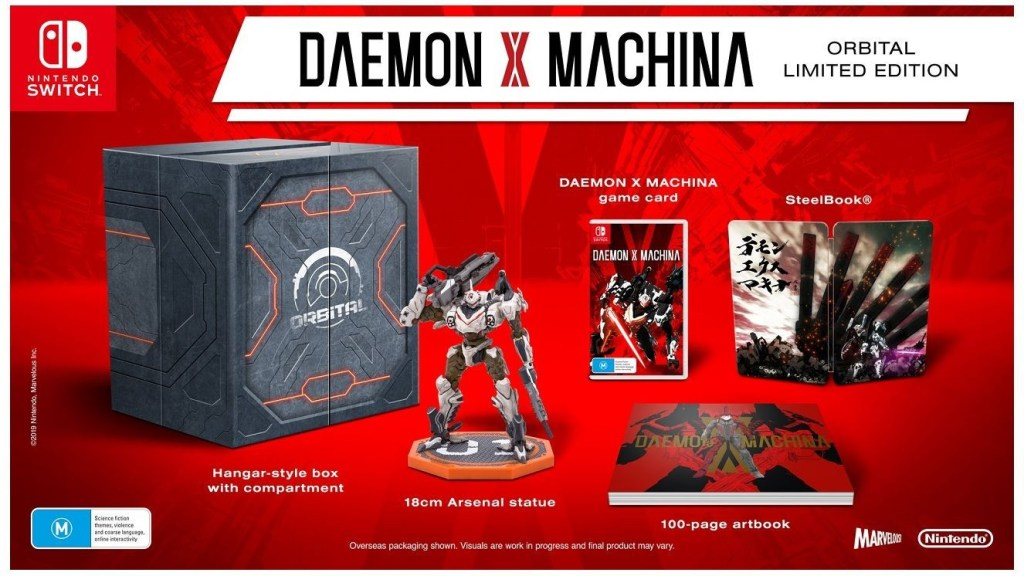 daemon x machina, nintendo switch, switch,us,north america Au, australia, Asia, eu, europe, japan, asia, release date, gameplay, features, price, pre-order,nintendo, marvelous first studio, orbital limited edition