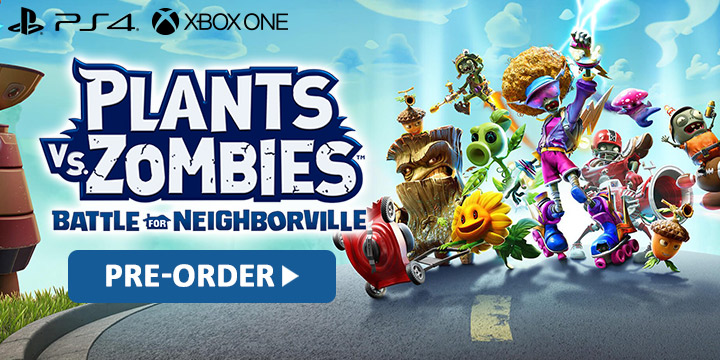 plants vs. zombies, plants vs.zombies: Battle for Neighborville, ps4, playstation,xone, xbox one, eu, europe, japan, release date, gameplay, features, price, pre-order,ea games, electronic arts, popcap games